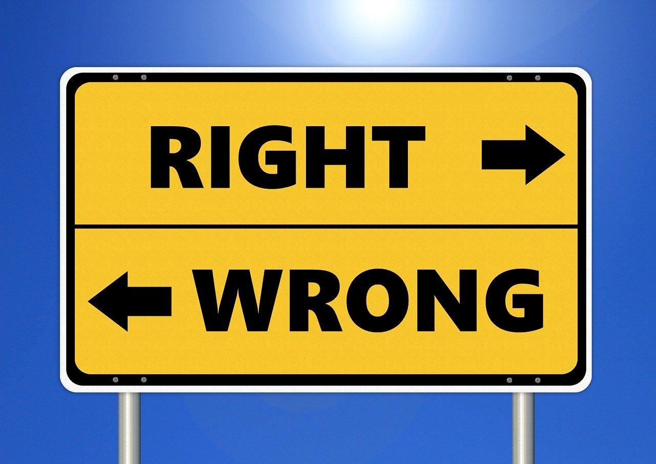 Giusto o sbagliato